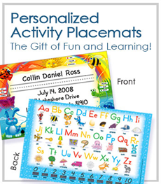 Personalized Activity Placemats