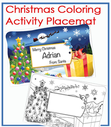 Christmas Coloring Activity Placemats
