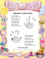 Little Prints It's a Girl Design